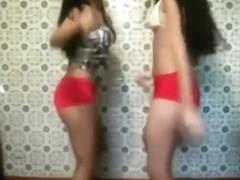 Two Brazilian girls having fun