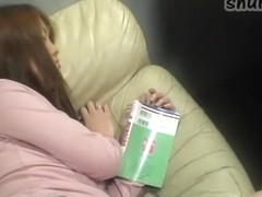 Perfect Asian slut covered in cum in Asian masturbation clip