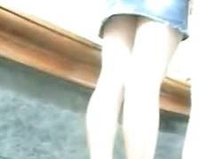 Young amateur schoolgirl upskirt video