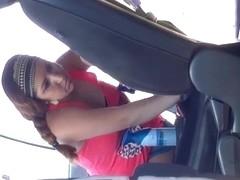 Amazing car wash Latina face