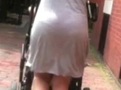 Jiggly Bubble Butt Milf Grey Skirt