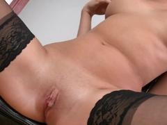 Fabulous pornstar in Exotic Stockings, Masturbation porn clip