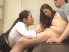 Incredible Japanese girl Mio Fujisawa, Asumi Toyokawa, Chiharu Nakai in Fabulous Threesomes JAV sc.