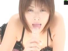 Crazy Japanese model Nana Natsume in Horny Stockings/Pansuto, Blowjob/Fera JAV scene
