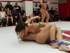 Darling takes on Penny in a 2 on 2 tag match for the last time