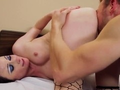 Naughty dude Erik Everhard enjoyed hot brunette girl Veruca James riding his cock and licked off h.