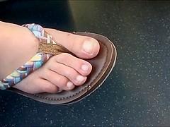 Candid feet on train 17