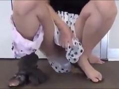 Japanese teenies spread their pussies