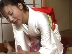 Incredible Japanese chick in Exotic JAV uncensored Handjobs movie