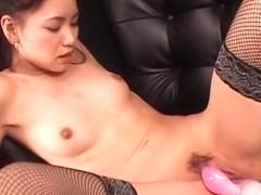 Exotic Japanese girl Kaede in Horny JAV uncensored Stockings clip