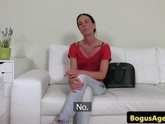Auditioning beauty creampied by casting agent