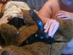 Incredibly fat granny oozes confidence as she masturbates for me on cam