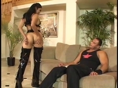 Mika Tan takes it hard from Sledge Hammer