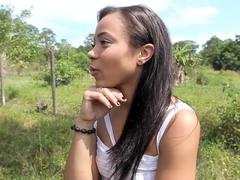 CFNMTeens - Sexy Ebony Fucks The Gardener