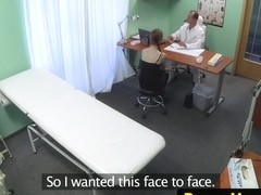 Euro patient creampied by her horny doctor