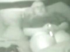 My fat mum masturbates on bed. True hidden cam