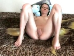 Agreeable Patsy Masturbating on Couch