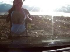 Chessie in Scrap Yard Cop Fucker: Busty Blonde Fucked In Junk Yard - FakeCop