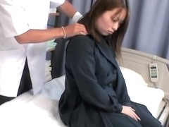 Nude Japanese gal smacked hard in spy cam massage clip