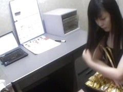Hardcore Japanese fuck in the office caught on a spy cam