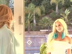 Nicole Aniston licks a sexy big titted blonde Spencer Scott