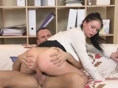 Mya Dark in handsome bimbo getting fucked in a high heel porn