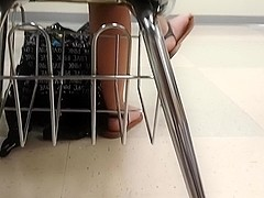 girl girl feet in class (Lydia) pt8