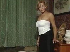 British slut Kristie plays with herself in various scenes