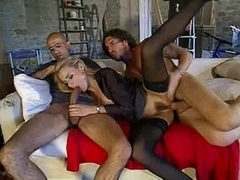 Italian Older Federica -Copulates two Men