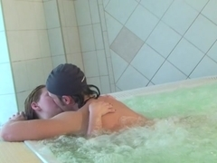 Russian beauties hardly fucking ramrods in the Jacuzzi