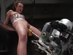Amazing fetish adult scene with incredible pornstar Gwen Diamond from Fuckingmachines