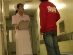 Man voyeurs hot white panty sharking the nurse skirt