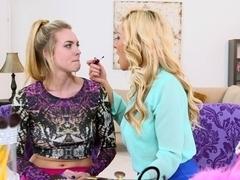 Stepmom Cosima Knight teaching stepdaughter Sasha Sean