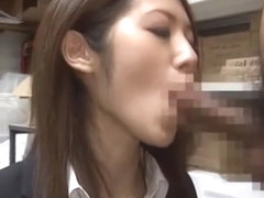 Amazing Japanese slut Riko Miyase in Fabulous Blowjob/Fera, Office JAV scene