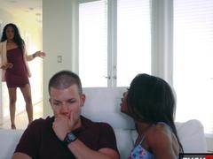 Mya Mays and Jasmyne De Leon in Mothers Interracial Interaction