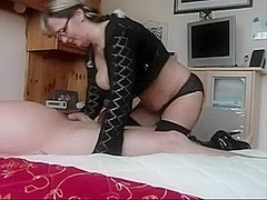 Massive-Milk Sacks-Dilettante with Glasses gives Tugjob