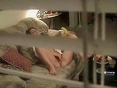 Voyeur video of a babe masturbating