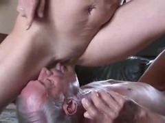 old bi-man sucks dick and pussy of mature couple