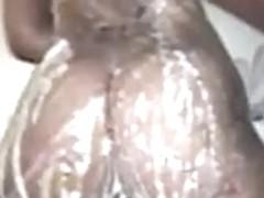 Black Sister Ghetto Booty Shower- Fat Ass Bubble Butt