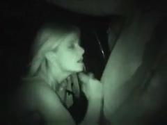 Dogging curvy wife sucks strangers cock night cam