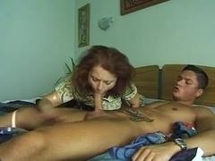 Younger dude fucks an older slut