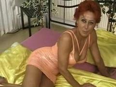 Redhead granny gets hardcore banging