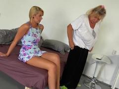 OldNanny - Blonde Granny with her blonde teen girlfriend masturbating