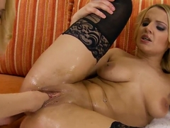 Glamorous blondes Cindy Hope and Tiana in the hardcore fisting scene