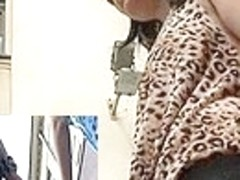 Leopardess sexy upskirt