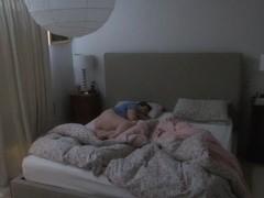 Voyeur butt through bedroom door