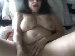 Amateur brunette clip with me touching my goods