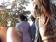 Breathtaking playgirl filmed with upskirt livecam