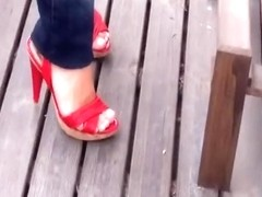 tacones rojos red heels