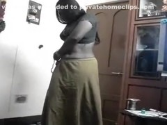 Telugu Aunty on Her Knees Drilled